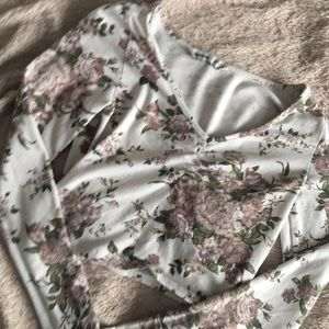 garage floral crop top